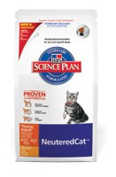 Illustration Science Plan VetEssentials Neutered Cat Young Adult Poulet 300 g chat