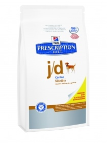 Illustration Prescription Diet Canine J/D 2 kg articulation croquettes chien
