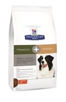 Illustration Prescription Diet Canine Metabolic + Mobility 12 kg articulaire chien