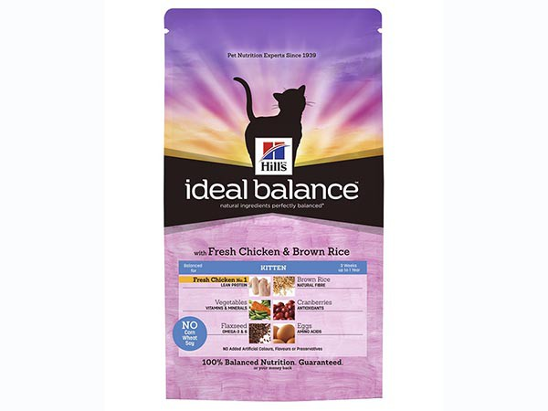 Illustration Ideal Balance Feline Kitten Poulet & Riz 2 kg Croquettes chaton