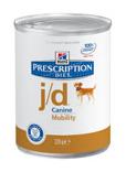 Illustration Prescription Diet Canine J/D 12 boîtes x 370 g articulation chien