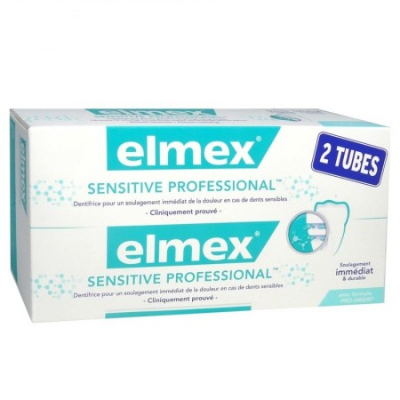 Elmex - Sensitive Professional - lot de 2 tubes de 75 ml