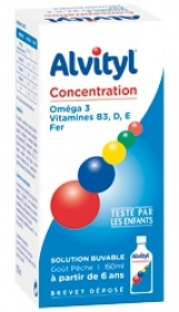 Illustration Alvityl Concentration solution buvable pour la concentration - 150 ml