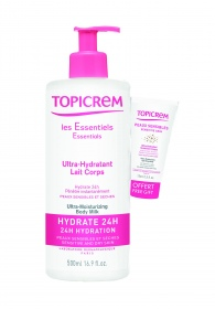Illustration Ultra-hydratant Lait corps 500 ml  + Ultra-hydratant Scintillant corps 15 ml offert