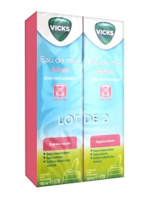 Vicks - Spray nasal isotonique pour enfants - lot de 2 x 100 ml