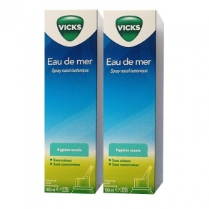 Vicks - Spray nasal isotonique - lot de 2 x 100 ml
