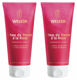 Illustration Crème de douche à la rose - lot de 2 x 200 ml