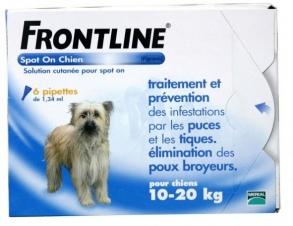 Illustration Frontline Spot-On Chien M moyen (10-20 kg) 6 pipettes