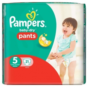 Illustration Baby-Dry Pants Couches taille 5 (12 à 18 kg) - paquet de 21 couches