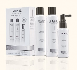 Nioxin - Kit System 1 - Cleanser 150 ml + Scalp Revitalizer 150 ml + Scalp Treatment 50 ml