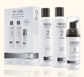 Nioxin - Kit System 2 - Cleanser 150 ml + Scalp Revitalizer 150 ml + Scalp Treatment 40 ml