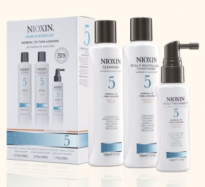 Nioxin - Kit System 5 - Cleanser 150 ml + Scalp Revitalizer 150 ml + Scalp Treatment 50 ml