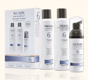 Nioxin - Kit System 6 - Cleanser 150 ml + Scalp Revitalizer 150 ml + Scalp Treatment 40 ml