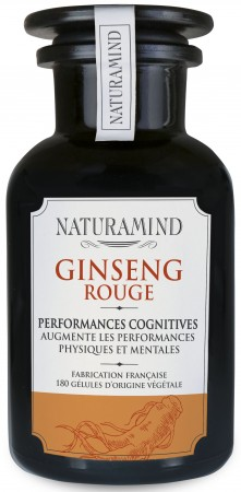 NaturaMind - Ginseng Rouge - Panax Ginseng complément alimentaire - cure de 3 mois