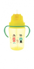 Illustration Tasse-paille +18 mois 350 ml - Jaune