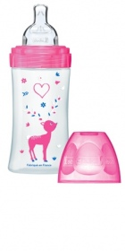 Illustration Biberon sensation+ 270 ml débit 2 - Fushia love