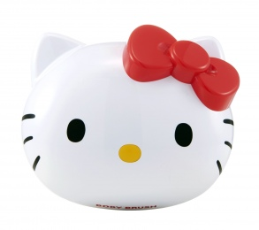 Illustration Hello Kitty brosse corps - White Edition