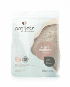 argile blanche masque pour le visage pour peaux ternes sachet 200g de argiletz sur. Black Bedroom Furniture Sets. Home Design Ideas