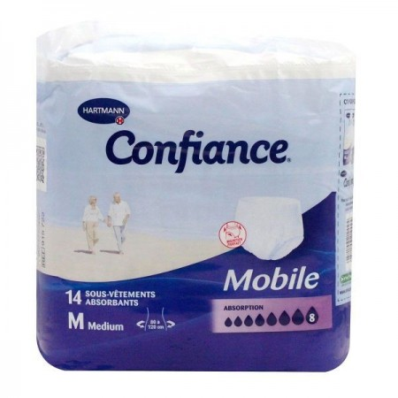 Hartmann - Confiance Sous-vêtements absorbants absorption 8 - paquet de 14 slips taille médium