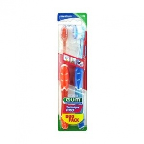 Illustration Brosse à dents Technique Pro medium compacte modèle 528 - lot de 2 brosses à dents