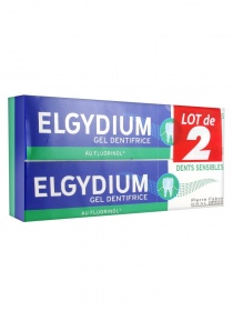 Elgydium - Dentifrice dents sensibles - lot de 2 x 75 ml