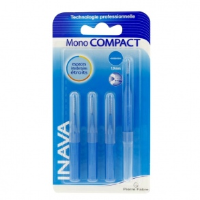 Inava - Brossettes interdentaires Mono Compact bleu - 4 brossettes
