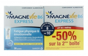 Illustration Magnévie B6 Express - lot de 2 x 30 sachets