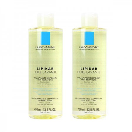 La Roche Posay - Lipikar Huile lavante relipidante anti-irritations - lot de 2 x 400 ml
