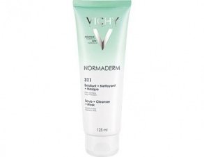 Illustration Normaderm 3 en 1 exfoliant + nettoyant + masque - 125 ml