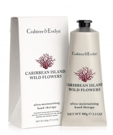 Illustration Caribbean Island Wild Flowers Crème mains - 100 g