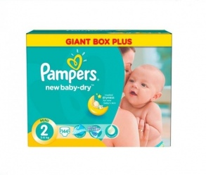 Pampers - Couches New Baby taille 2 (3 à 6 kg) paquet de 144 couches